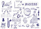 Hand drawn vector illustration: Business success — Stock Photo