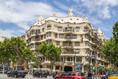 View of Casa Mila or La Pedrera, in Barcelona — Foto de Stock