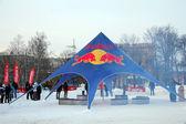 Competición de snowboard toro rojo en riga — Foto de Stock