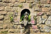Metall sjöjungfrun staty i vilnius, litauen — Stockfoto