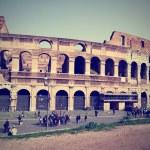 Постер, плакат: Ancient Roman architecture Colosseum Rome