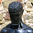 Head brain forged sculpture — Stock Photo #12832625