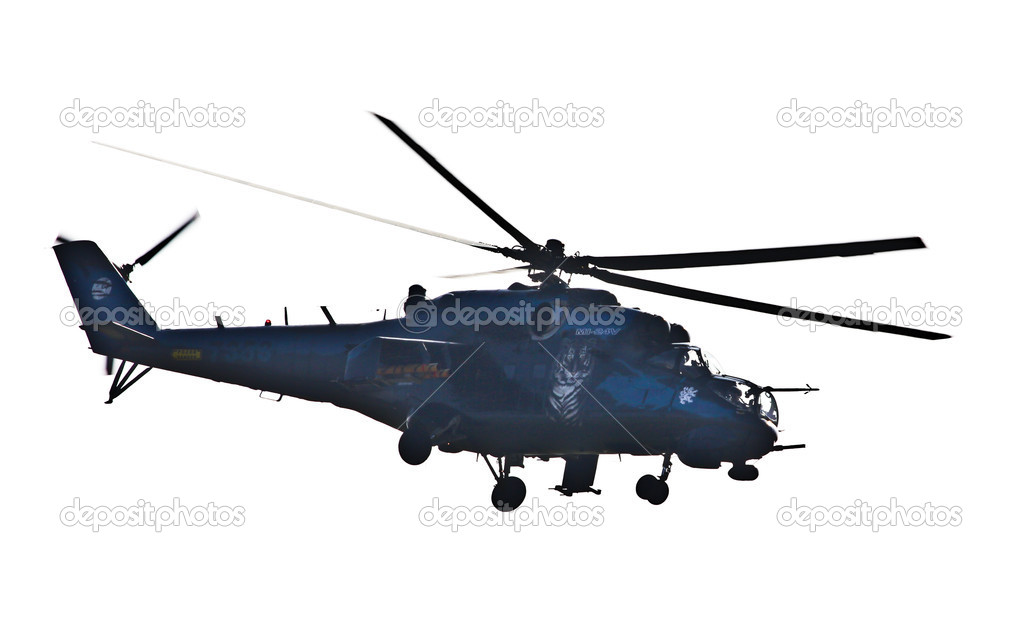 Flying helicopter — Stock Photo #13206277