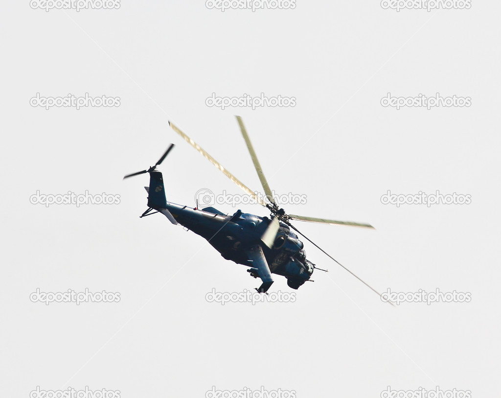 Flying helicopter — Stock Photo #13206279