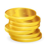 Stacks of gold coins, vector — Stock Vector