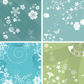 Season patterns, vector — Stock Vector