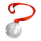 Silver Medal, vector — Stock Vector