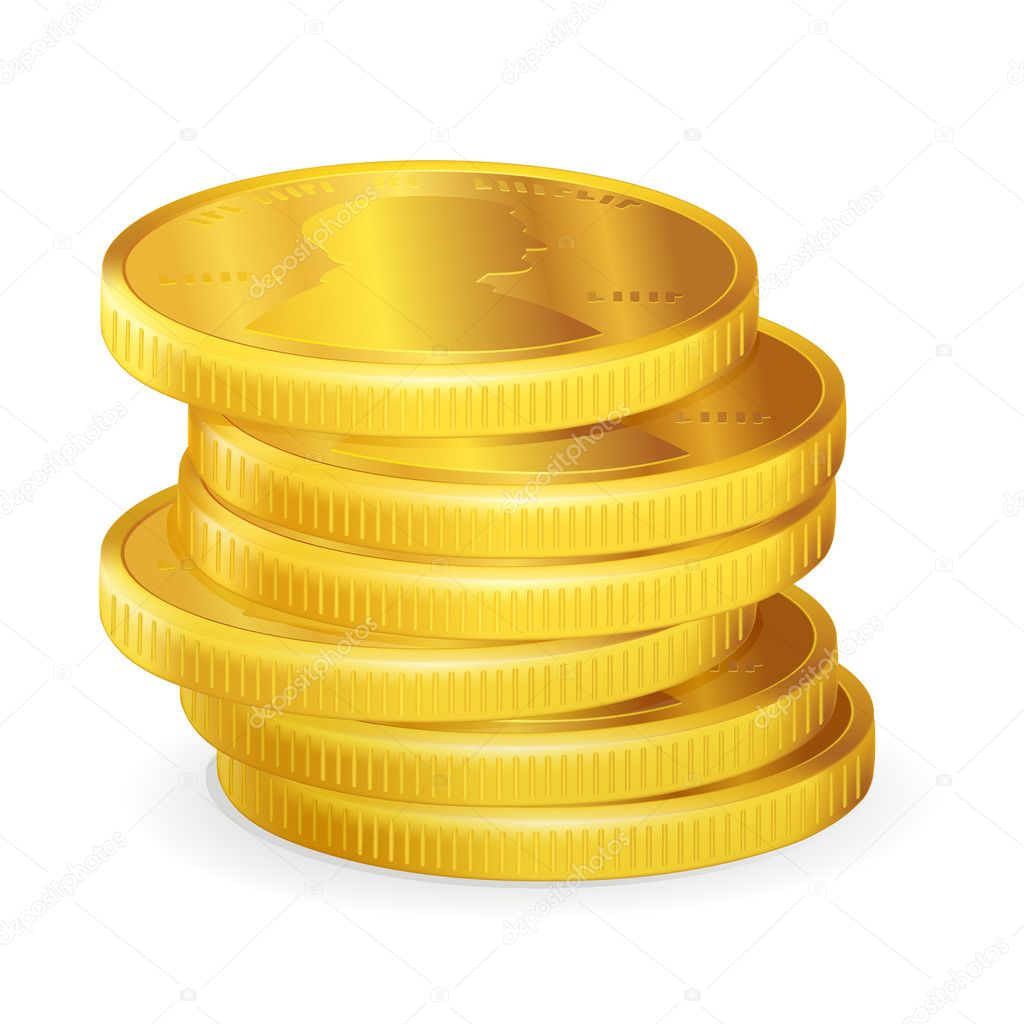 Stack of Coins Vector Stacks of Gold Coins Vector