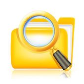 Search folder icon — Stock Vector