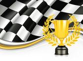 Fundo com um troféu, vector — Vetorial Stock