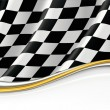 Checkered Flag, vector background — Stock Vector #12760167
