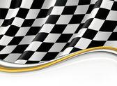 Checkered Flag, vector background — Stock Vector