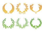 Wreaths, set — Stock Vector