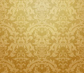 Brown seamless wallpaper pattern, vector — Stok Vektör
