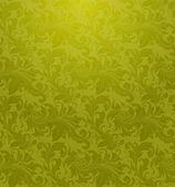 Green Seamless wallpaper pattern, vector — Stock Vector
