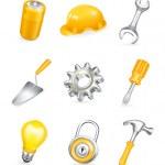 Repair, vector icon set — Stock Vector #12780148