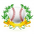 Baseball Emblem, vector — Stock Vector