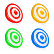 Target, vector buttons — Stock Vector