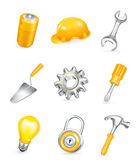 Repair, vector icon set — Stock Vector