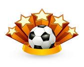 Soccer Emblem, vector — Stock Vector