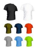 T-shirt on the white, vector set — Stock Vector