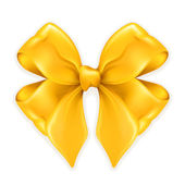 Bow golden — Vector de stock