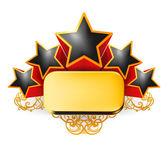 Emblema vintage, vetor — Vetor de Stock