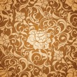 Brown Seamless wallpaper pattern — Imagen vectorial