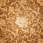 Brown Seamless wallpaper pattern — Stock Vector