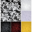 Seamless Wallpaper Pattern, set of six colors — Stock vektor
