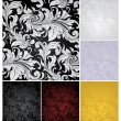 Seamless Wallpaper Pattern, set of six colors — Imagen vectorial