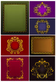 Frames Vintage, set — Stock Vector