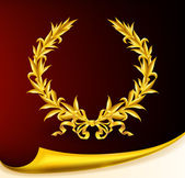 Rich golden wreath, eps10 — Vector de stock