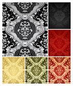 Modello di carta da parati senza soluzione di continuità, set di sei colori — Vettoriale Stock