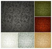 Modèle de papier peint sans soudure, ensemble de six couleurs — Vecteur