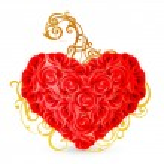 Heart of roses, eps10 — Stock Vector