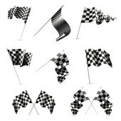 Checkered Flags set — Stock vektor