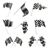 Conjunto de bandeiras quadriculada — Vetorial Stock