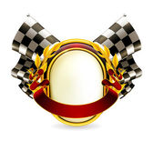 Flag checkered emblem, eps10 — Vetorial Stock