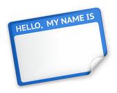 Nom tag, eps10 — Vecteur
