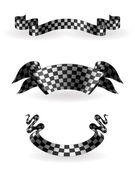 Checkered ribbons set, 10eps — Stock Vector
