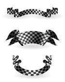 Checkered ribbons set, 10eps — Stock Vector