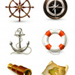 Marine set, high quality icons 10eps — Stock Vector
