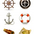 Stock Vector: Marine set, high quality icons 10eps