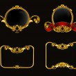 Vintage emblem set on black, 10eps — ストックベクター #12824072