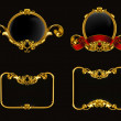 Vintage emblem set on black, 10eps — Vetorial Stock #12824072