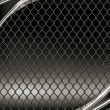 Wire mesh, black background 10eps — Stok Vektör #12824105