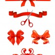 Bows and ribbons, vector set - Stock Vector