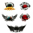 Set of racing emblems - Stock Vector