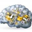 Royalty-Free Stock Vector Image: Mechanical brain